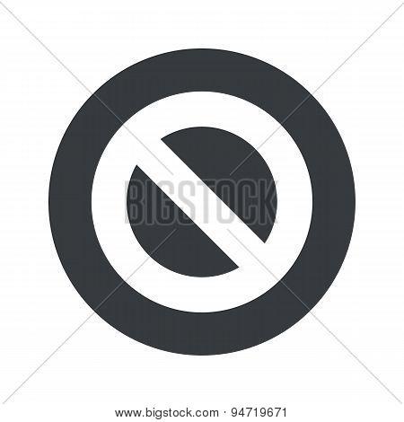 Monochrome round NO icon