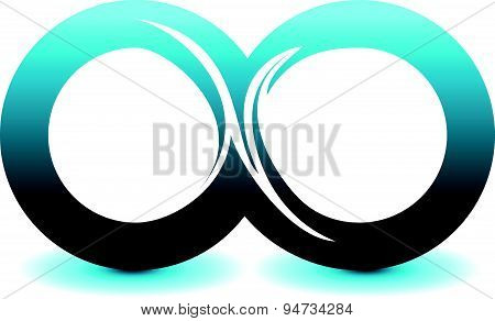 Infinity Symbol Unlimited Sign Vector Icon