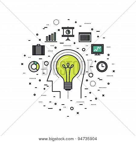 Business Innovation Line Style Illustration