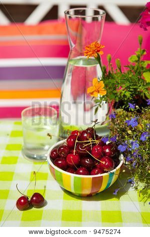 Clear Carafe Water And Fruit