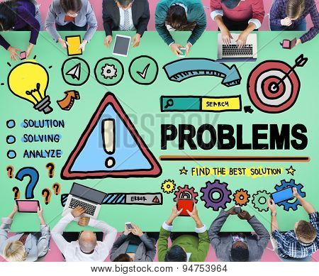 Problems Trouble Difficulty Failure Challenge Concept poster