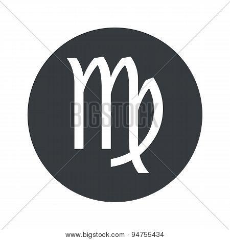Monochrome round Virgo icon