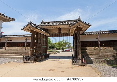 Oteninomon Gate (1670) Of Marugame Castle, Japan