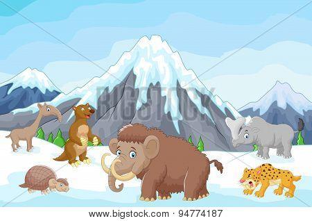 Cartoon Collection ice age animals