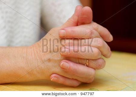 Grandma'S Folded Hands