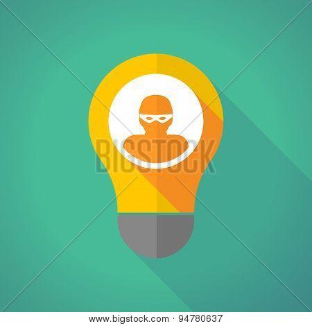 Long Shadow Light Bulb With A Thief