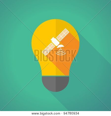 Long Shadow Light Bulb With A Satellite