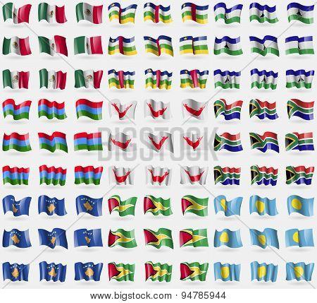 Mexico, Central African Republic, Lesothe, Karelia, Easter Rapa Nui, South Africa, Kosovo, Guyana, P