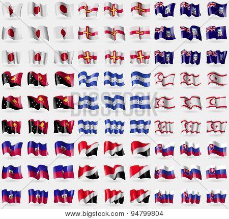 Japan, Guernsey, Falkland Islands, Papua New Guinea, Honduras, Turkish Northern Cyprus, Haiti, Seala