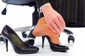 Plantar Fasciitis - hurting toes after wearing every day high heels. poster