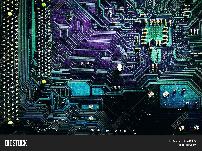 Dark Pcb Board Image & Photo (Free Trial) | Bigstock