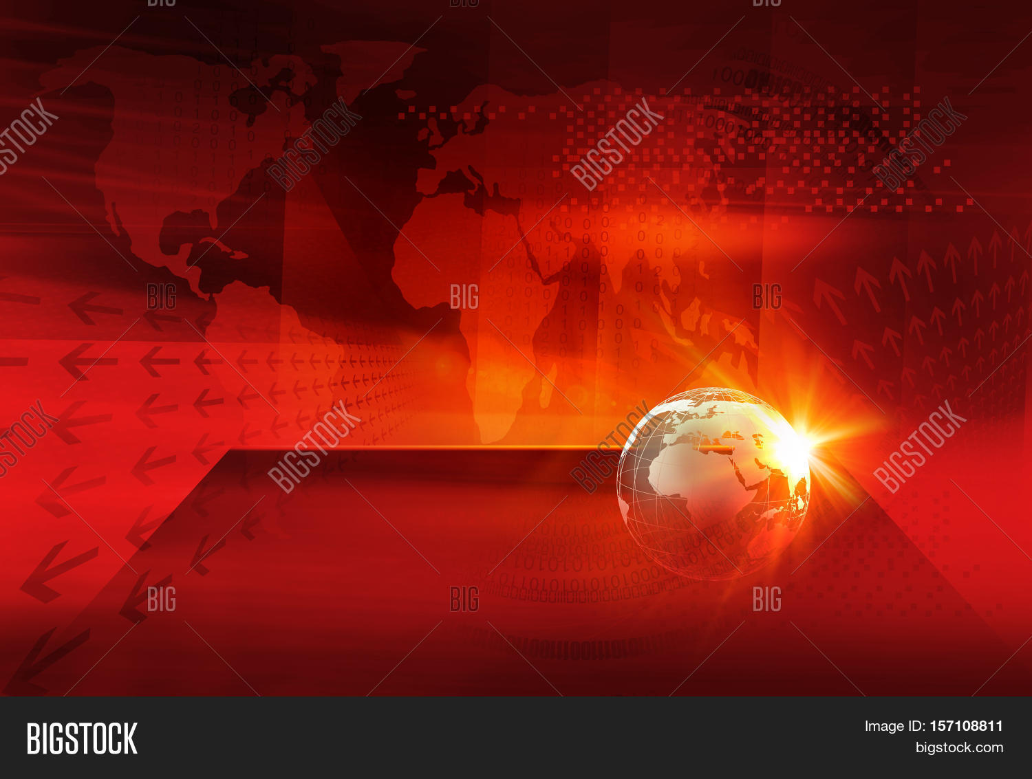 Graphical digital world news image photo bigstock graphical digital world news background earth globe on a flat stage in front of red gumiabroncs Image collections