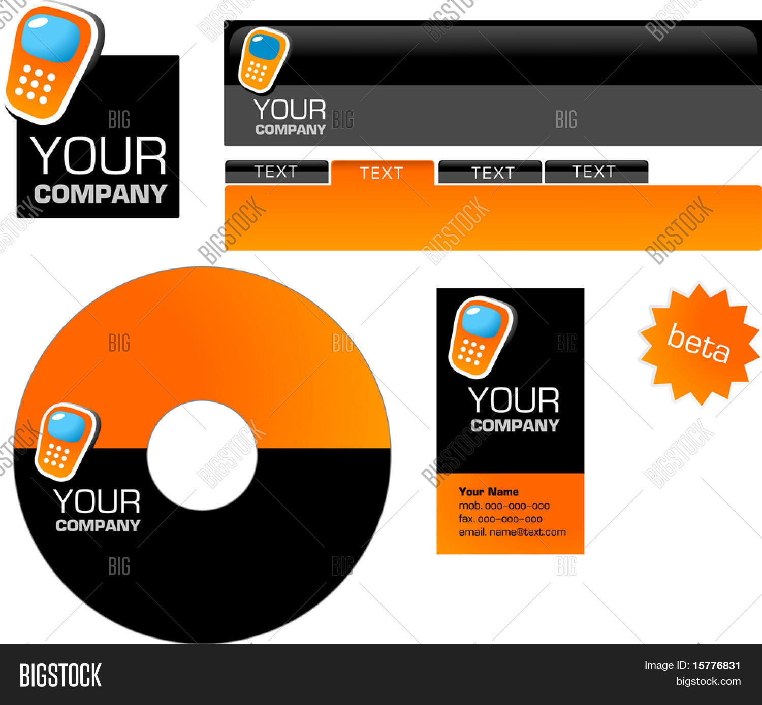 Template design logo vector photo free trial bigstock template design of logo letterhead banner header disk and business card spiritdancerdesigns Image collections