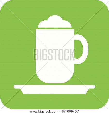 Cappucino, cup, coffee icon vector image. Can also be used for coffee shop. Suitable for web apps, mobile apps and print media.