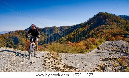 Tiravento Mount Premilcuore Forli forest agricultural heritage riding mountain bike in the Casentin Forest in Romagna