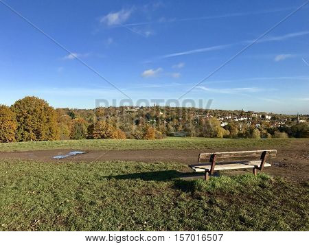 Highgate viewed from Parliament Hill on Hampstead Heath, London