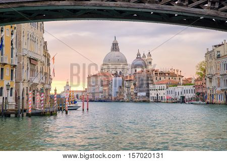 View Of Grand Canal And Santa Maria Della Salute Basilica, Venice