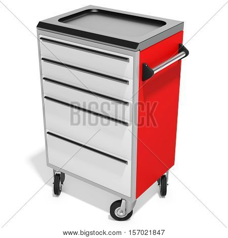 Mobile Tool Cabinet With Drawers