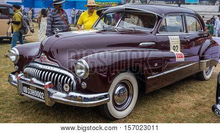 KOLKATA, INDIA - JANUARY 31, 2016: Vintage car Buick Eight (1958) on display at the Statesman Vintage Car Rally at Fort William Kolkata.