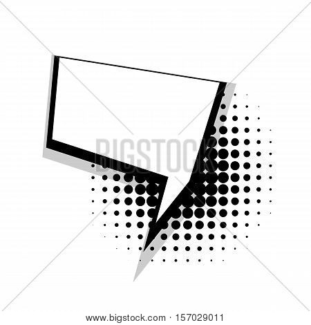 Blank template comic speech square daring bubble halftone dot background style pop art. Comic dialog empty space text style pop art. Creative composition idea conversation comic sketch explosion