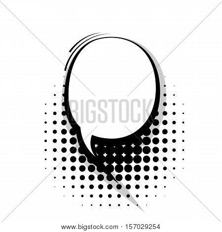 Blank template comic speech lines round bubble halftone dot background style pop art. Comic dialog empty cloud, space text style pop art. Creative composition idea conversation comic sketch explosion