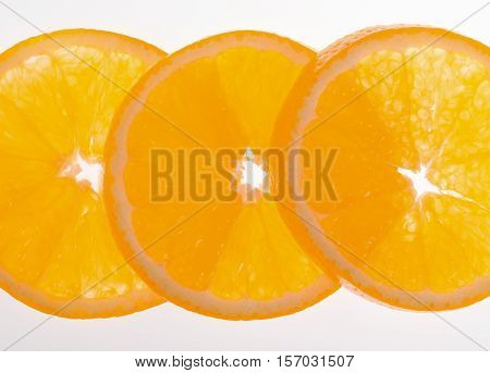 Half of orange on a white background