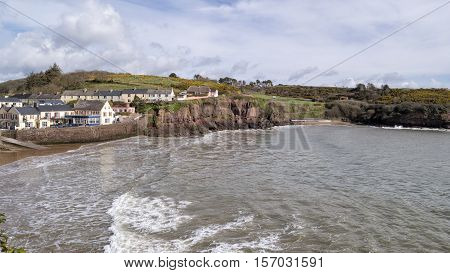 View of coastal village of Dunmore East in Co.WaterfordIreland