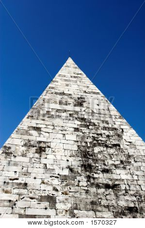 Pyramid Of Cestius Is Egyptian Style Pyramid In Rome