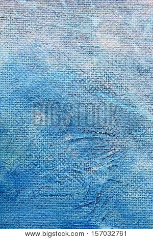 Blue Watercolour Textures on Canvas 3