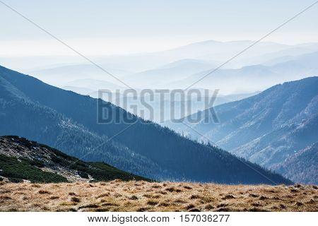 Low Tatras mountains Slovak republic. Travel destination. Natural scene. Hiking theme. Beauty in nature.