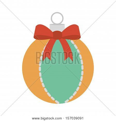 christmas ball decorative icon vector illustration design