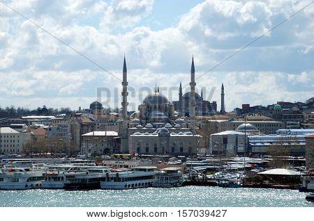 Istanbul, a metropolis in Turkey. Istanbul, a city on the Bosporus and a metropolis in Turkey