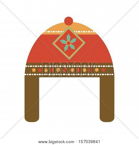 christmas hat decorative icon vector illustration design
