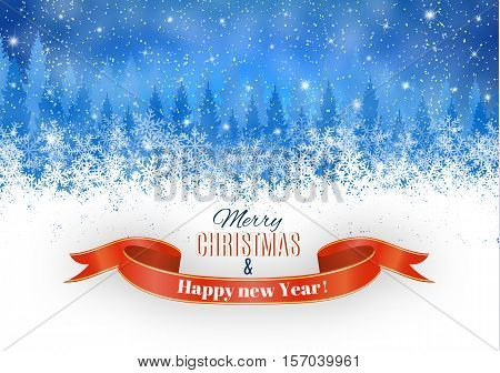 Christmas Winter Snow light background. Vector illustration. Christmas card, invitation, background, design template. concept for greeting or postal card