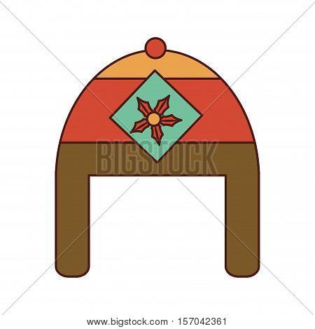 christmas hat decorative icon vector illustration design