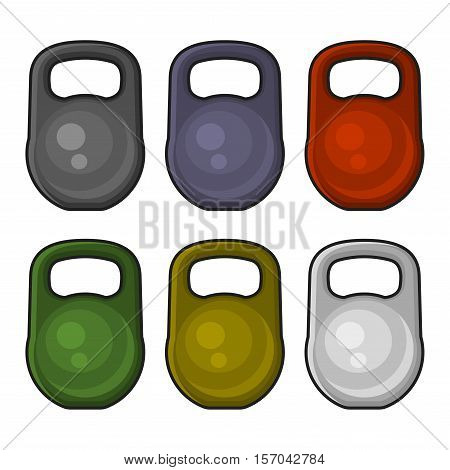 Color Weight Kilogram Icon Set. Vector illustration