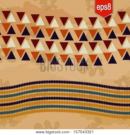 Abstract ethnic pattern. Light background with ornament in tribal style.