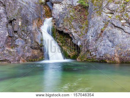 Ourlia waterfalls near Dion village, Olympus mountain, Greece