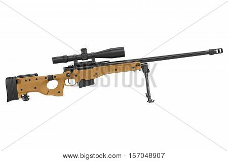 Rifle Sniper Equipment, Side View