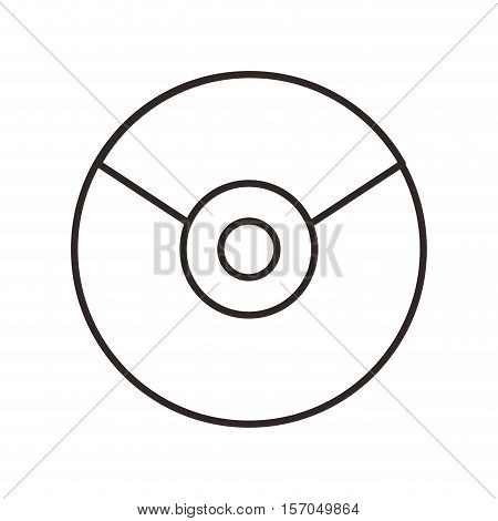 cd disk isolated icon vector illustration design