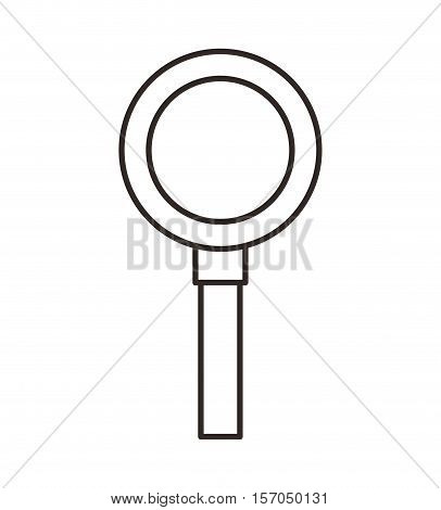 search magnifying glass flat line icon vector illustration design