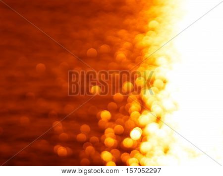 Right aligned glowing sun path ocean sunset background hd