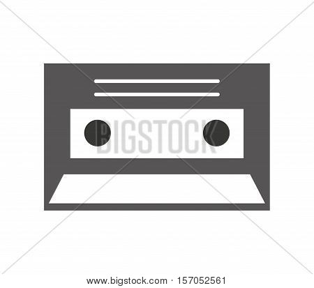 cassette record isolated icon vector illustration design