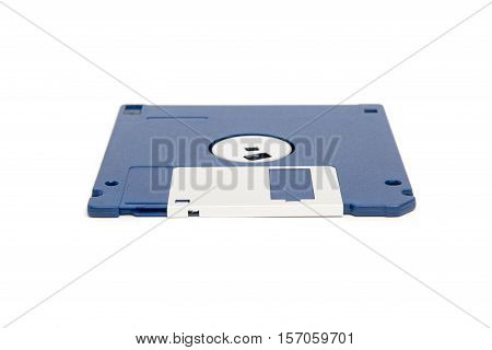 One Blue And Silver Floppy Disk