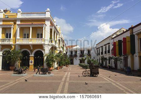 San Pedro Claver Square In Cartagena, Colombia
