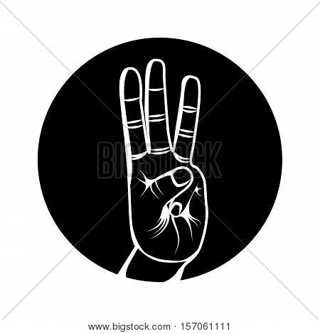 hand human symbol isolated icon vector illustration design