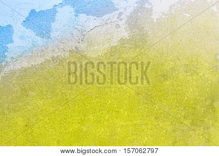 Vintage Yellow And Blue Plaster Background