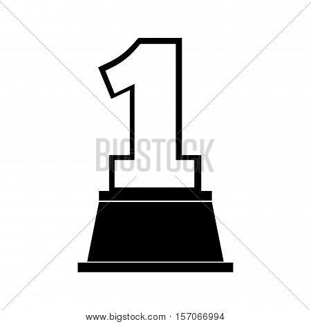 trophy winner award isolated icon vector illustration design