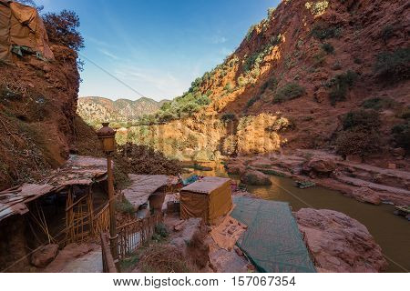 Scenery Around Waterfalls Ozoud In Morocco