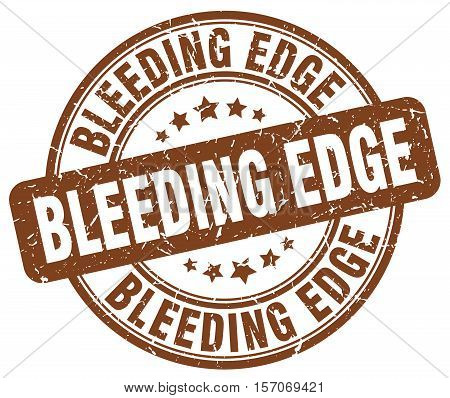 bleeding edge. stamp. square. grunge. vintage. isolated. sign